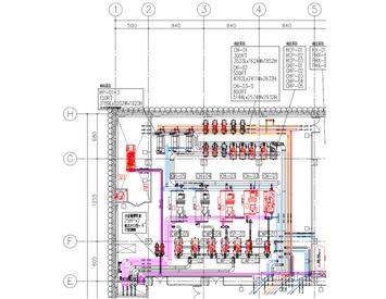 機房管路規劃平面繪製