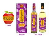 寶島壹號氣泡蘋果醋飲料標籤及LOGO設計