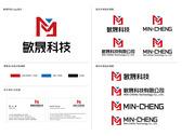 敏晟科技logo設計/名片設計