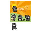 台灣黑熊方巾設計