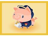 企業吉祥物設計-租屋業包租代管-豬吉祥物
