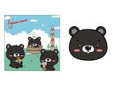 壓縮毛巾設計-黑熊款