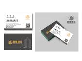 龍進建設 公司個人彩色雙面名片設計