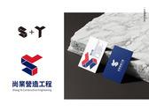 營造工程公司logo+名片